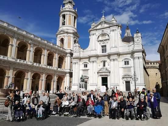 Pellegrinaggio degli ospiti della Fondazione Ceci, a Loreto il 17 Maggio 2018.